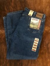 New Wrangler Rugged Wear Relaxed Denim Men's Blue Jeans 44x32
