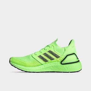 Men's Adidas UltraBoost 20 Running Shoes Signal Green / Black Sz 12 EG0710