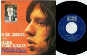 MICK JAGGER ROLLING STONES Memo from Turner OST 45rpm 7' + PS 1970 ITALY EX+