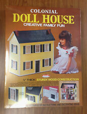 "SKILCRAFT Colonial Doll House KIT 1/4"" wood 3 Story 1""- 1' ORIGINAL BOX SEALED"
