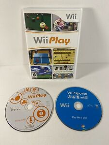 Nintendo Wii Sports and Wii Play Video Game Bundle LOT Tested