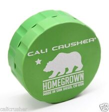 Cali Crusher Homegrown Herb, Spice & Tobacco Grinder Aluminum 2 Piece New Green