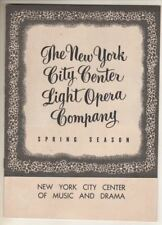 "Barbara Cook   ""Carousel""   Playbill  1954  City Center   Rodgers & Hammerstein"