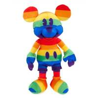 2019 Disney Store Rainbow Mickey Mouse Exclusive Limited Release Plush NWT