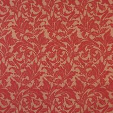 F606 Red Floral Leaf Outdoor Indoor Marine Scotchgarded Fabric By The Yard