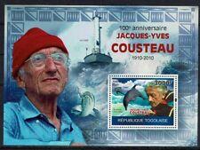 JACQUES YVES COUSTEAU Togo bloc de 2010 ** DAUPHIN REQUIN