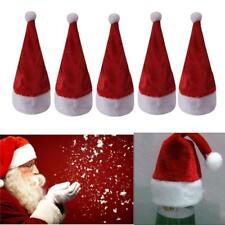 10pcs Christmas Santa Claus Mini Red Hat Wine Bottle Cover Topper Decor New LC