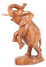 Wunderschöner Elefant Glücks stehender Elephant Holz Afrika Tier Deko Natur