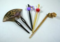 Japanese Antique Hair accessories Kanzashi 4 pieces Beautiful F/S From Japan
