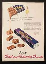 CADBURY'S CHOCOLATE BISCUITS - Vintage Full Page Magazine Advert 17 April 1954 *