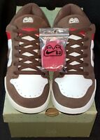 """Nike Dunk Low SB 6.0 ☆2006☆ """"Fat Tongue"""" Size 10 (M) Brown/Red 311839-122"""