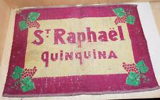 Ancien Tapis jeux de cartes St Raphael Quinquina bistrot objet publicitaire