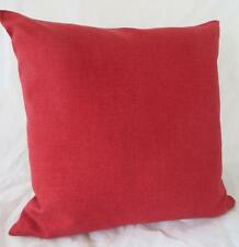 Raspberry Red Solid Colour Linen Look Cushion Cover 45cm