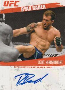 Ryan Bader 2009 Topps UFC Round 2 Autograph Card