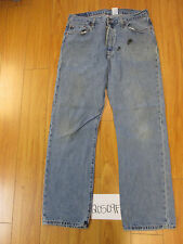 used Levi 501 feathered grunge jean tag 38x34 meas 34x33 20509F