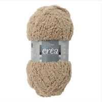 Crea Crafts Grisaille Moss Wool Yarn 25g for Knit & Stitch Creative Throw Fluffy