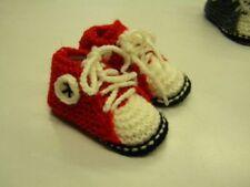 abc broons chausson bébé rouge modele unique neuf layette tricot m87