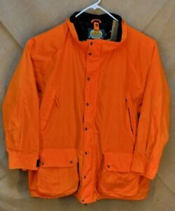 CABELAS Size 4XL  Blaze Orange Full Zip Coat Jacket Full Zip