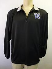 mens LINCOLN STARS HOCKEY Sport Tec microfiber 1/2 zip blk Shirt jacket sec K XL