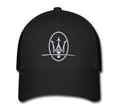 Adjustable Maserati Symbol Baseball Cap Running Cap Black