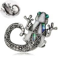 Rhinestone Mechanical Lizard Shape Alloy Brooch Pin Fashion Jewelry Gift