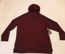 Russell Athletic Mens 2XL maroon red Training Fit Quilted Hoodie sweatshirt