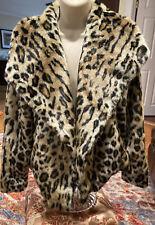 Chaser Multi Color Faux Fur Open Closure Animal Print Jacket Size L