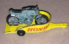 VINTAGE  MATCHBOX HONDA MOTORCYCLE TRAILER & CYCLE  #38