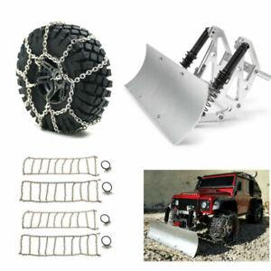 Alloy Snow Shovel Plow Blade Snow Chains for Axial SCX10 TRX4 1/10 RC Car Parts