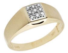 c81f63d6b5d3 10k Oro Amarillo Hombres Diamante Auténtico Mate Anillo Compromiso Boda  0.05ct