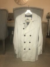 Burberry London Men's Beige/Stone Double Breasted Mid Length Trench Coat 52