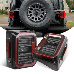 DOT LED Tail Lights Reverse Turn Signal Running Lamps for Jeep Wrangler JK 07-17