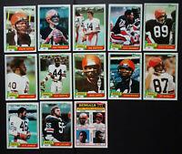 1981 Topps Cincinnati Bengals Team Set of 13 Football Cards
