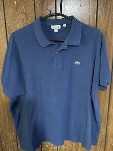 lacoste mens Classic fit polo shirt  blue  size 9 4xl