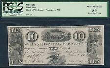 $10.The Bank Of Washtenaw,MI.1834.