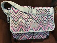 Justice Aqua Chevron Shimmer Messenger Bag Super Cute!