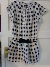 Lovely Catimini Spotty Dress Age 10 Excellent Condition