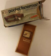 Pocket Fisherman Spin Casting Outfit w/ Manual & Box 1970s Ronco As seen on TV