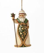Heartwood Creek Green & Ivory Santa Hanging Ornament by Jim Shore  23306