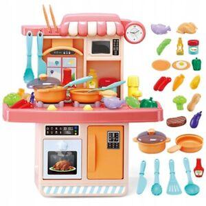 23stk Spielküche Kinderküche mit Licht und Sound Kinder Küche Spielzeug Zubehör