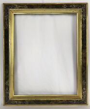 Antique Late 19th C Eastlake Sponge Paint Lemon Gold Gilt Frame 14 x 18 Opening