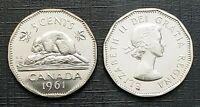 Canada 1961 Proof Like Gem Five Cent Nickel!!