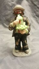 Flambro Emmet Kelly Jr Miniature Collection Eating Cabbage Ceramic Figurine