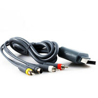 Microsoft Xbox 360 Cable S-Video AV Cable 6Ft (KMD) Brand New