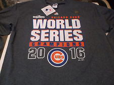 Chicago Cubs MLB  apparel 2016 World Series Champion shirt by Majestic XXL L/S