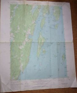"""1955 Louds Island Maine ME Dept. Of Interior Geological Survey Map,  22"""" X 27"""""""