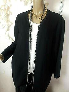 Sehr*Hübsche*SAMOON Pullover Blusen -Jacken- Shirt /**Gr 50 Schwarz*Top* w.NEU