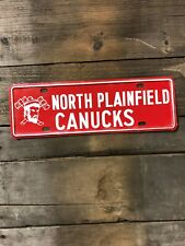 NORTH PLAINFIELD CANUCKS HIGH SCHOOL BOOSTER LICENSE PLATE TOPPER NEW JERSEY