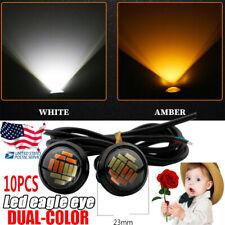 10x Eagle Eye Led Light White Amber Dual Car Motor DRL Fog Lamp DRL Backup Light