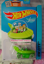 Case D 2015 Hot Wheels New The Jetsons Capsule Car #57 Us ✈Green;oh5✈Tooned